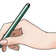 筆ペンの持ち方